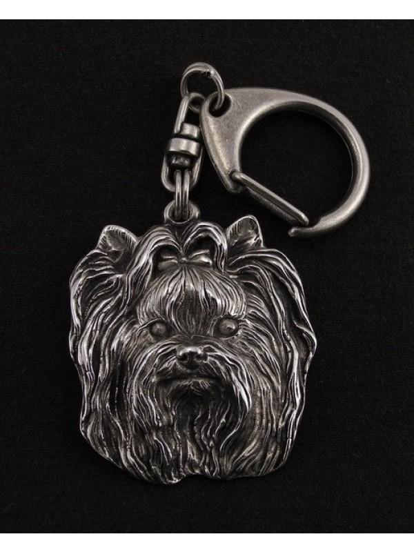 Yorkshire Terrier - keyring (silver plate) - 35 - 9249