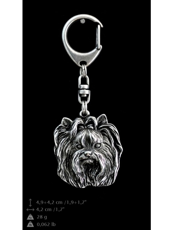 Yorkshire Terrier - keyring (silver plate) - 35 - 9251
