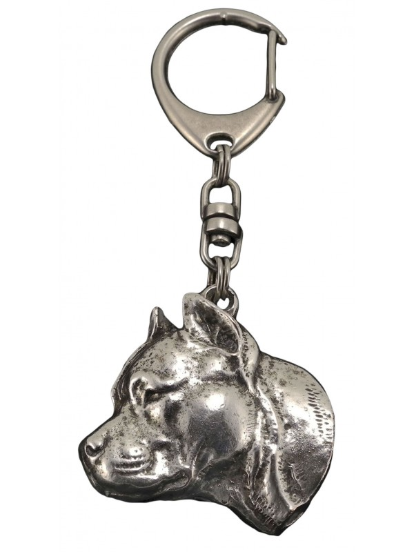American Staffordshire Terrier - keyring (silver plate) - 61