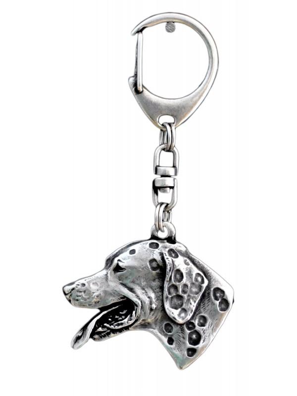 Dalmatian - keyring (silver plate) - 21
