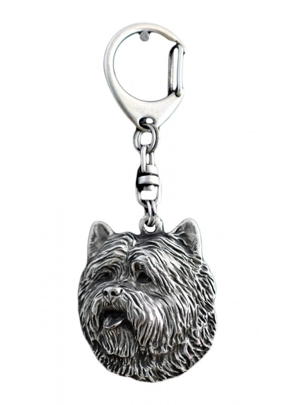Cairn Terrier - keyring (silver plate) - 75
