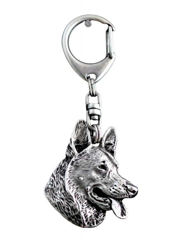 German Shepherd - keyring (silver plate) - 29