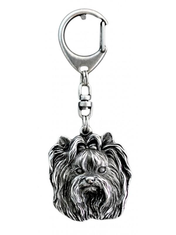 Yorkshire Terrier - keyring (silver plate) - 35