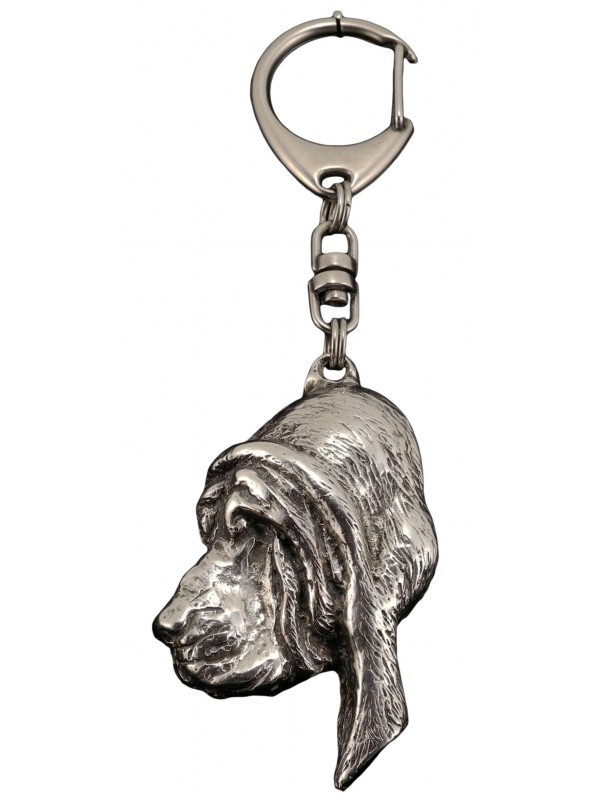 Bloodhound - keyring (silver plate) - 80