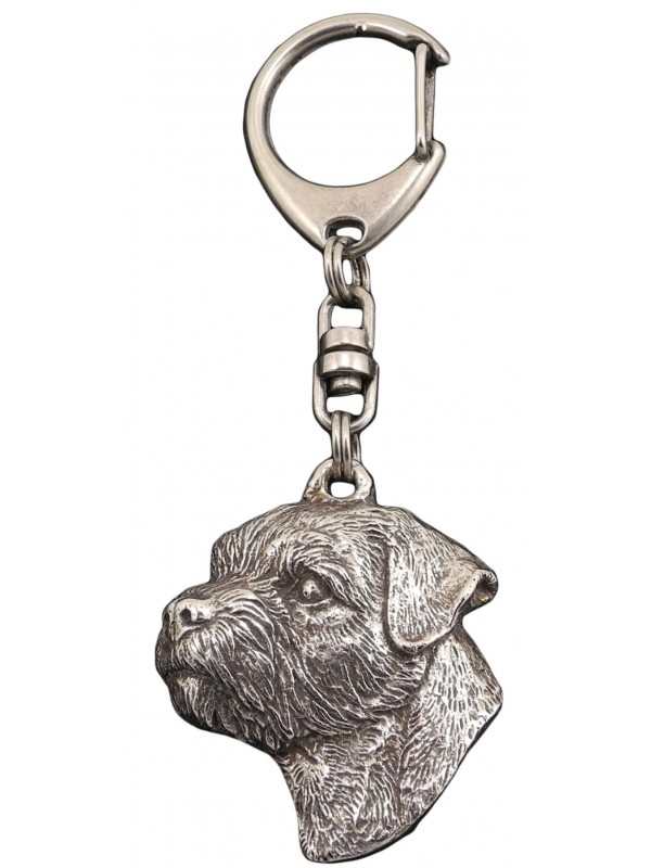 Border Terrier - keyring (silver plate) - 103