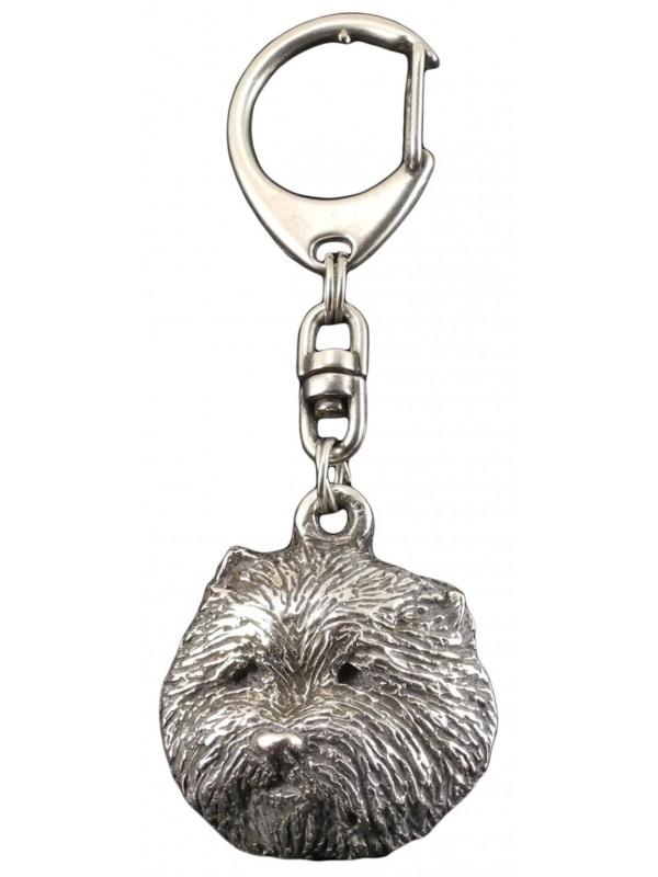 West Highland White Terrier - keyring (silver plate) - 72