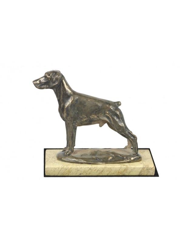 Metallobjekte Figur Dobermann Rasse Bronze