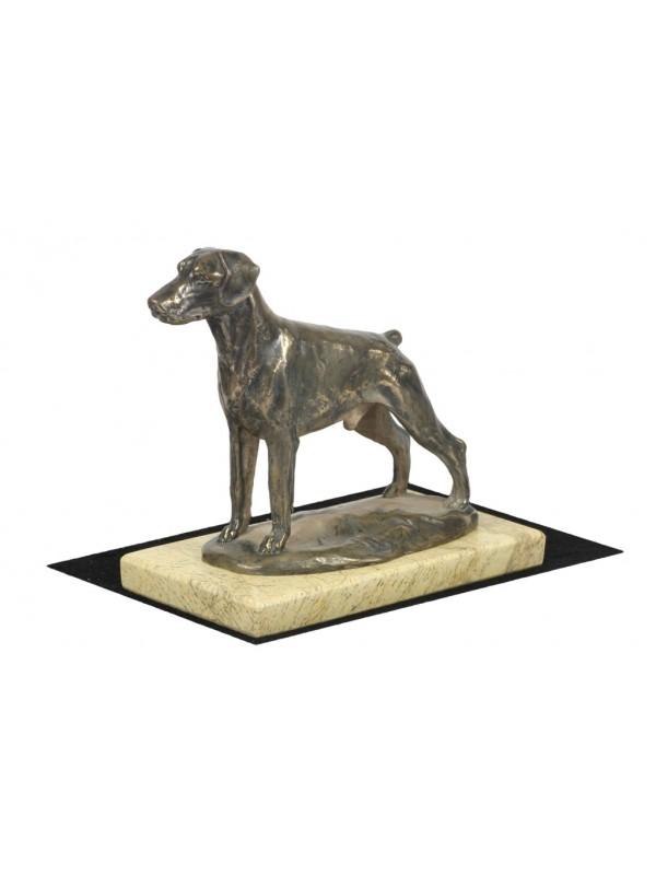 Bronze Figur Dobermann Rasse Bronze Antiquitäten & Kunst