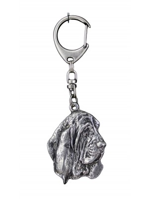 Basset Hound - keyring (silver plate) - 715