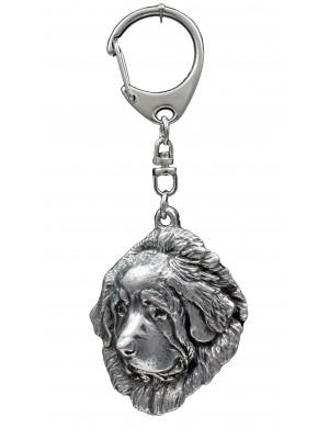 Tibetan Mastiff - keyring (silver plate) - 1098