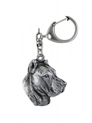 Perro de Presa Canario - keyring (silver plate) - 95
