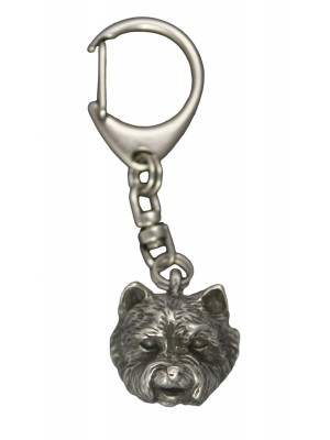 West Highland White Terrier - keyring (silver plate) - 652