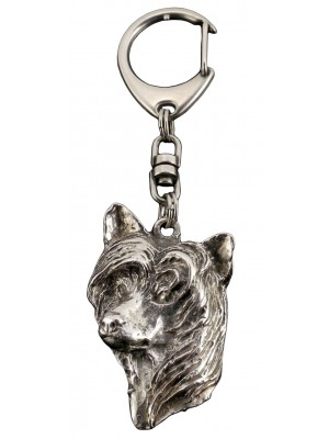 Chinese Crested - keyring (silver plate) - 51