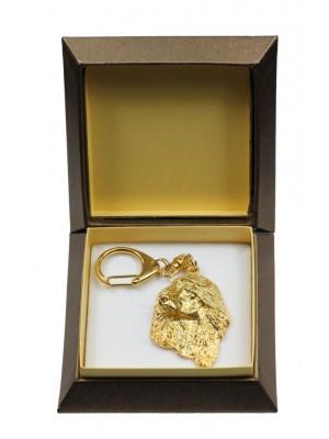 Afghan Hound - keyring (gold plating) - 2864 - 30525