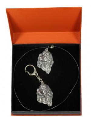 Afghan Hound - keyring (silver plate) - 2160 - 20197