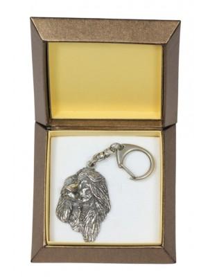 Afghan Hound - keyring (silver plate) - 2759 - 29878
