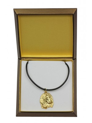 Afghan Hound - necklace (gold plating) - 2518 - 27677