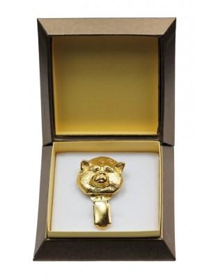 Akita Inu - clip (gold plating) - 2598 - 28559