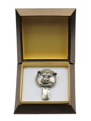 Akita Inu - clip (silver plate) - 2547 - 28128
