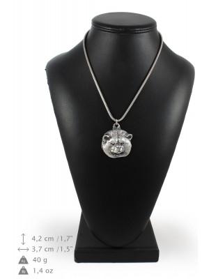 Akita Inu - necklace (silver chain) - 3311 - 34432