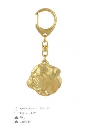 American Bulldog - keyring (gold plating) - 871 - 30105