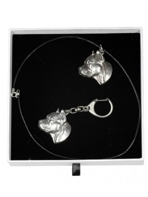 American Staffordshire Terrier - keyring (silver plate) - 1971 - 15266