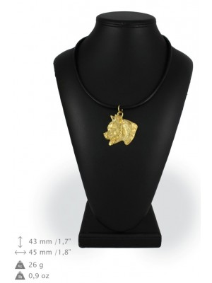American Staffordshire Terrier - necklace (gold plating) - 911 - 25331