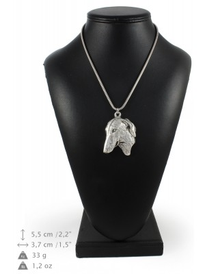 Azawakh - necklace (silver chain) - 3337 - 34484