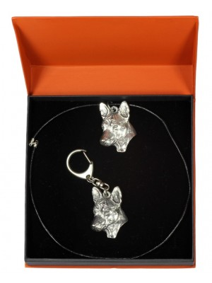 Basenji - keyring (silver plate) - 2197 - 21092