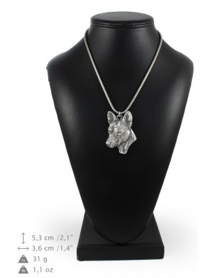 Basenji - necklace (silver chain) - 3352 - 34593