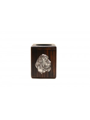 Basset Hound - candlestick (wood) - 3996 - 37885