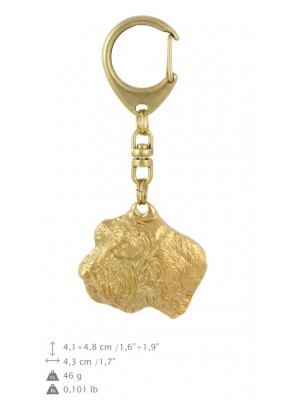Basset Hound - keyring (gold plating) - 839 - 30044