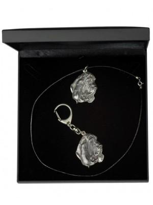 Basset Hound - keyring (silver plate) - 1841 - 12511