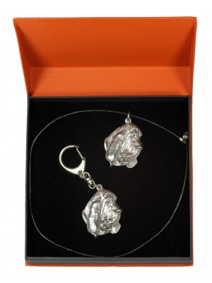Basset Hound - keyring (silver plate) - 2210 - 21380