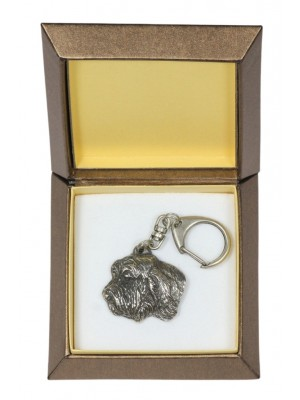 Basset Hound - keyring (silver plate) - 2766 - 29886