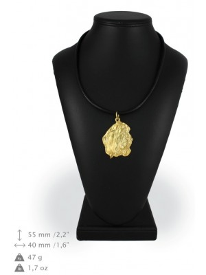Basset Hound - necklace (gold plating) - 1008 - 25537