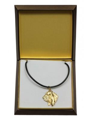Basset Hound - necklace (gold plating) - 3026 - 31662