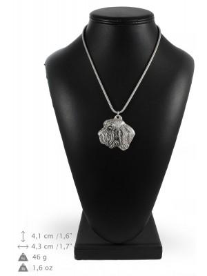 Basset Hound - necklace (silver cord) - 3198 - 33212
