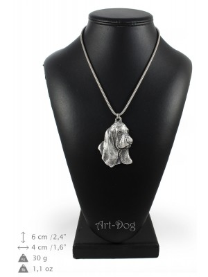 Basset Hound - necklace (silver cord) - 3256 - 33407
