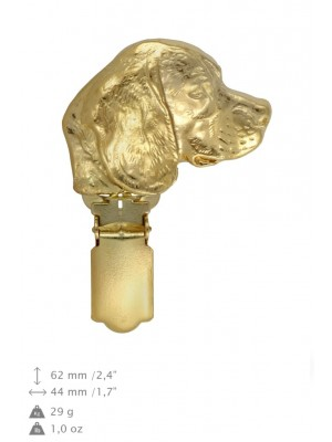 Beagle - clip (gold plating) - 1611 - 26837