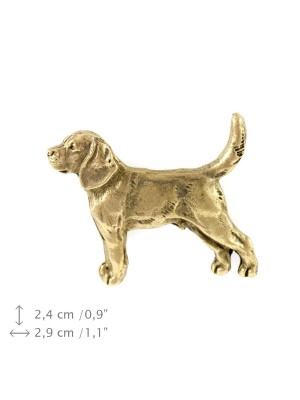 Beagle - pin (gold) - 1491 - 7432