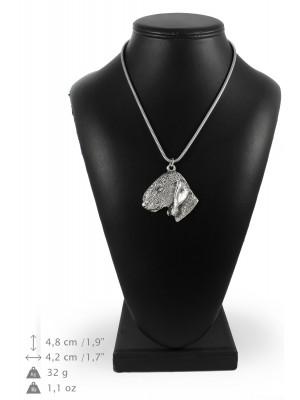 Bedlington Terrier - necklace (silver chain) - 3322 - 34455