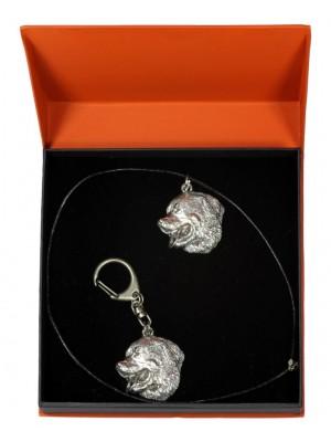 Bernese Mountain Dog - keyring (silver plate) - 2207 - 21312