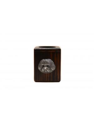 Bichon Frise - candlestick (wood) - 4013 - 37970
