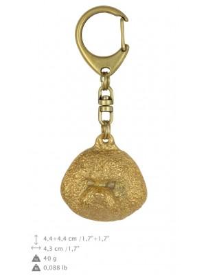 Bichon Frise - keyring (gold plating) - 1596 - 25637