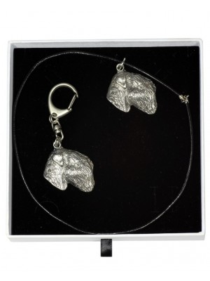 Black Russian Terrier - keyring (silver plate) - 1996 - 15829