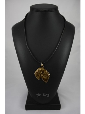 Black Russian Terrier - necklace (gold plating) - 972 - 4268