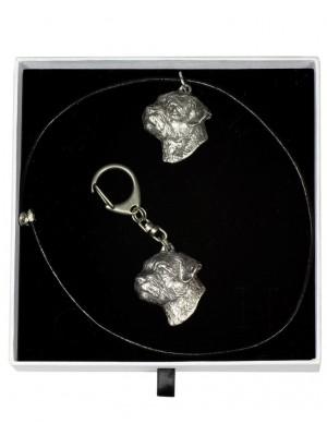 Border Terrier - keyring (silver plate) - 2006 - 16059
