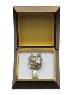 Boston Terrier - clip (silver plate) - 2541 - 28122
