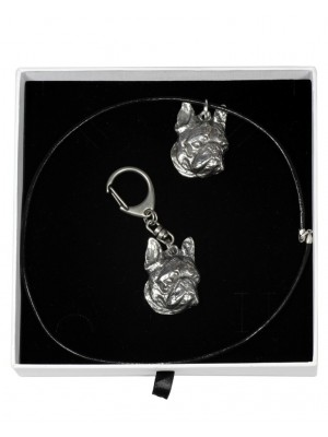 Boston Terrier - keyring (silver plate) - 1965 - 15132